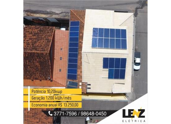SISTEMA DE ENERGIA  FOTOVOLTAICA COMERCIAL 10,20 kWp
