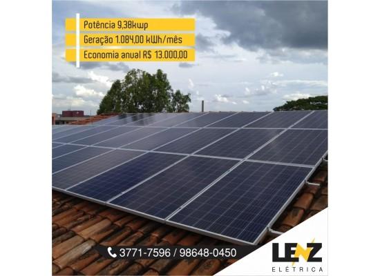 SISTEMA DE ENERGIA SOLAR FOTOVOLTAICA RESIDENCIAL 9,38 KWP
