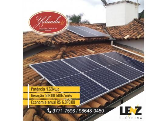 SISTEMA DE ENERGIA SOLAR FOTOVOLTAICO RESIDENCIAL 4,32 KWP