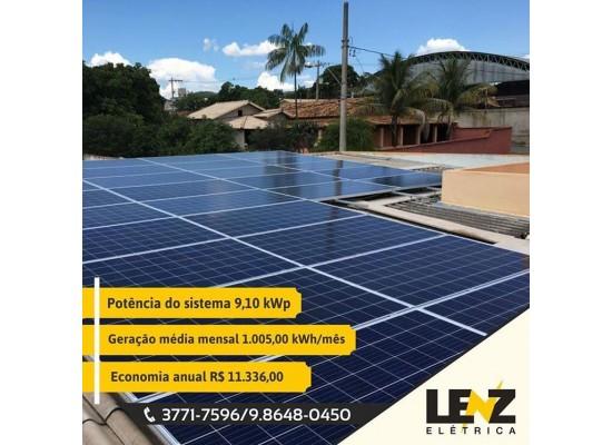 SISTEMA DE ENERGIA SOLAR FOTOVOLTAICA COMERCIAL 9,10 KWP