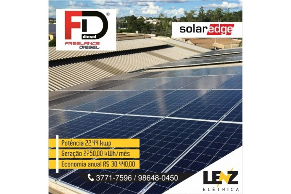 SISTEMA FOTOVOLTAICA COMERCIAL 22,44 KWP